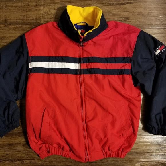 af174b76 Vintage 90's Tommy Hilfiger Colorblock Fleece Jkt.  M_5c26b13103087ca525d01190